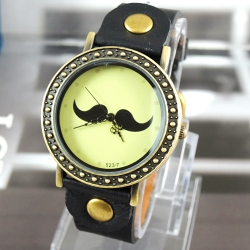2a991cc6091 Dámske hodinky Mustache čierne