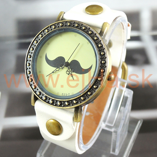 b0e7722d23f Dámske hodinky Mustache biele