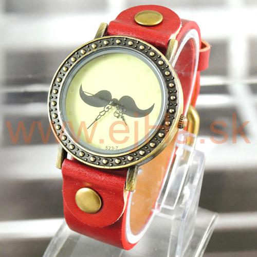 80ac8beb897 Dámske hodinky Mustache červené